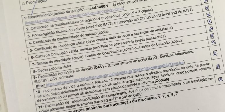 Importing a car in Portugal?