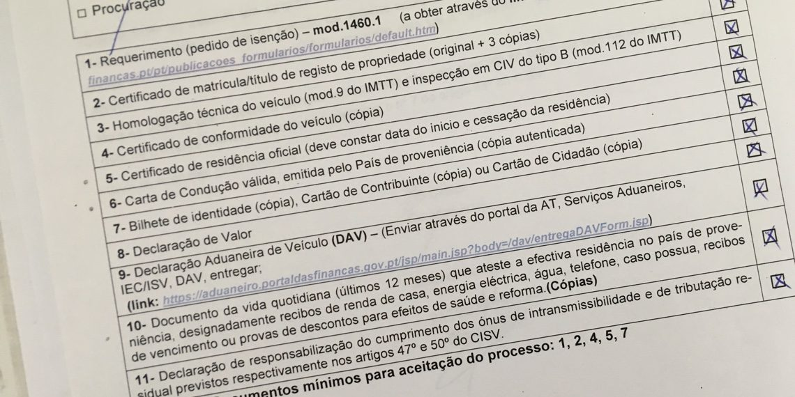 Auto importeren in Portugal?