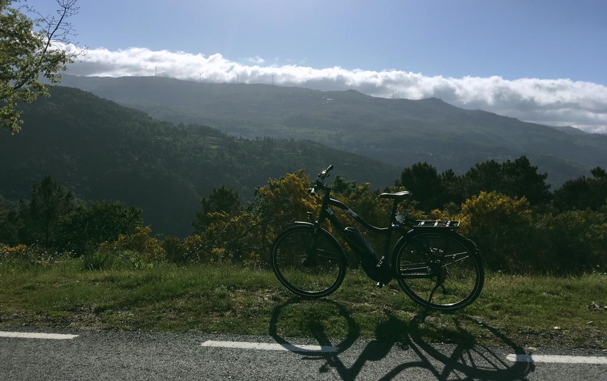 E-bike in de bergen
